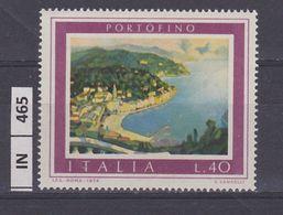 ITALIA REPUBBLICA, 1974Turismo Portofino Nuovo - 6. 1946-.. Repubblica