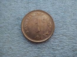Rhodesia 1 Cent 1977 Bronze 4 G ø 22.6 Mm KM 10 - Rhodésie
