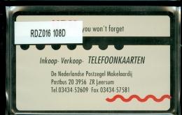 Telefoonkaart  LANDIS&GYR NEDERLAND * RDZ.016 108D * Pays Bas Niederlande Prive Private  ONGEBRUIKT * MINT - Paesi Bassi