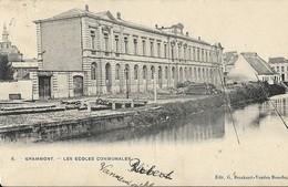 GERAARDSBERGEN/GRAMMONT - Les écoles Communales - Verstuurd/envoyé 1907 - Geraardsbergen