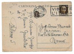 EDB317 - REGNO , Cartolina Postale Da Palermo 25/7/1939 - 1900-44 Vittorio Emanuele III
