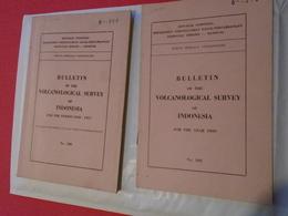 Volcanologie Indonésie : BULLETIN OF THE VOLCANOLOGICAL SURVEY OF INDONESIA N° 100 + 102 - Sciences De La Terre