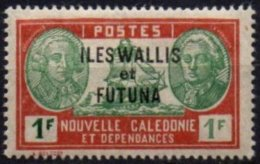 WALLIS & FUTUNA - 1 F. Vert Foncé à Gauche Et Vert Clair à Droite TB - Wallis-Et-Futuna