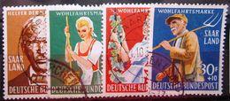 SARRE           N° 423/426              OBLITERE - 1957-59 Fédération