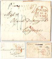 AR56) GREAT BRITAIN - MIXED LOT OF POSTAL HISTORY TO FRANCE - 1840-1901 (Regina Victoria)