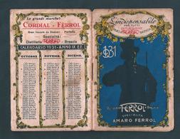 CALENDARIETTO - ANNO 1931 DISTILLERIA FERROL - BRESCIA - Cartoline