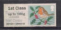 GB 2012 QE2 1st Up To 100 Gms Post & Go Christmas Robin ( T715 ) - Great Britain