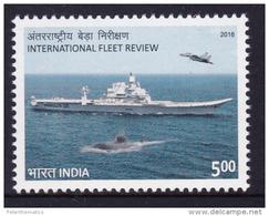 INDIA, 2016, MNH, INTERNATIONAL FLEET, SHIPS, SUBMARINES, PLANES, FIGHTER PLANES, 1v - Sous-marins