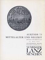 Numismatik Lanza Munchen - Auktion 73 Mittelalter Und Neuzeit - Munzen Und Medaillen - 30 Mai 1995 - Catalogo D'Asta - Libri & Software