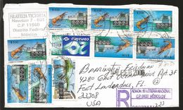 J) 2008 MEXICO, SRIMP, CAMPECHE, VALLE DE BRAVO, STATE OF MEXICO, 20 YEARS OF CONALEP, MULTIPLE STAMPS, REGISTERED, AIRM - Mexico
