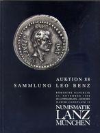 Numismatik Lanza Munchen - Auktion 88 Sammlung Leo Benz - Romische Republik - 23 November 1998 - Catalogo D'Asta - Books & Software