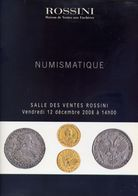Numismatique - Salle Des Ventes Rossini - 17 Decembre 2008 - Catalogo D'Asta - Books & Software