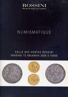 Numismatique - Salle Des Ventes Rossini - 17 Decembre 2008 - Catalogo D'Asta - Libri & Software
