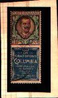 88770) Italia- Pubblicitari-1 L.Grafofono Columbia-usato - 1900-44 Vittorio Emanuele III