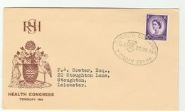 1964 TORQUAY HEALTH  CONGRESS Royal Society Of Health EVENT COVER Gb Stamps Medicine Bird Birds - Medicine