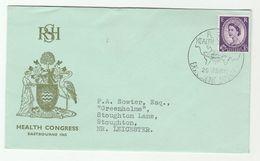1965  EASTBOURNE HEALTH  CONGRESS Royal Society Of Health EVENT COVER Gb Stamps Medicine Bird Birds - Medicine