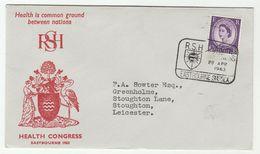 1963 EASTBOURNE HEALTH  CONGRESS Royal Society Of Health EVENT COVER Gb Stamps Medicine Bird Birds - Medicine