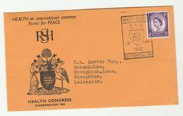 1962 SCARBOROUGH HEALTH CONGRESS Royal Society Of Health EVENT COVER Gb Stamps Medicine Bird Birds Peace - Medicine