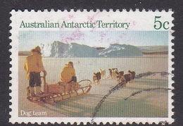 Australian Antarctic Territory  S 63 1984 Antarctic Scenes 1 5c Dog Team Used - Used Stamps