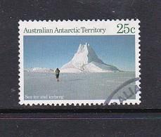 Australian Antarctic Territory  S 64 1984 Antarctic Scenes 1 25c Ice Used - Australian Antarctic Territory (AAT)
