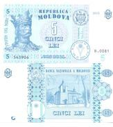 2017. Moldova, 5Leu/2015,  UNC - Moldavië