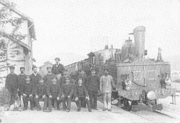 Le Cheylard, Tabac De La Gare (Viviane Faivre) Reproduction Locomotive Chemin De Fer Du Cheylard? - Le Cheylard