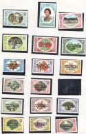 1978   Definitive Set Overprinted « INDEPENDANCE  3rd NOVEMBER 1978» Missing The 5 Cent Value UM - MNH - Dominica (1978-...)