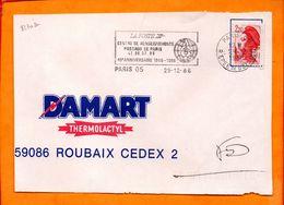 PARIS, Paris 05, Flamme SCOTEM N° 8230a, 40e Anniversaire Centre De Renseignements Postaux - Oblitérations Mécaniques (flammes)
