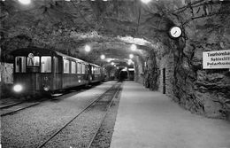 """07480 """"JUNGFRAUBAHN - STATION JUNGFRAUJOCH 3454 M."""" TRENO. CART NON SPED - Stazioni Con Treni"""