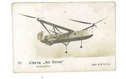 IMAGE AVION FOTO KNVVL AVIATION PAYS-BAS N°70 CIERVA AIR HORSE HELICOPTERE - Autres