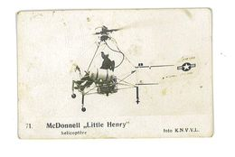 IMAGE AVION FOTO KNVVL AVIATION PAYS-BAS N°71 MC DONNELL LITTLE HENRY HELICOPTERE - Old Paper