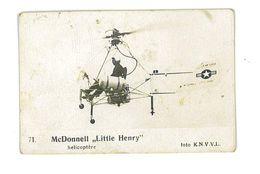 IMAGE AVION FOTO KNVVL AVIATION PAYS-BAS N°71 MC DONNELL LITTLE HENRY HELICOPTERE - Vieux Papiers