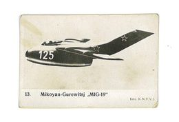 IMAGE AVION FOTO KNVVL AVIATION PAYS-BAS N°13 MIKOYAN GUREWITSJ MIG-19 - Vieux Papiers