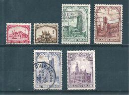 Belgique  Timbres De 1928  N°267 A 272 3 Timbres * Et 3 Oblitérés - Unused Stamps
