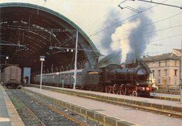 """D7489 """"VAPORE A MILANO 30/06/1985 - LOCOMOTIVA 625.142 SEGUITA  DALLE CENTOPORTE""""  CART NON SPED - Stazioni Con Treni"""
