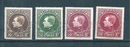 Belgique  Timbres De 1929/32  N°289 A 292 Neufs Petite Trace De Charnière (cote 220€) - Ungebraucht