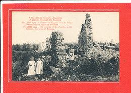 80 BIACHES Cpa Animée En 1919 Les Restes De L ' Eglise Au Fond Les Ruines De Peronne - Francia