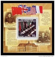 Russia 2016 Mih. 2404 (Bl.147) World War II. Nuremberg Trials MNH ** - 1992-.... Fédération