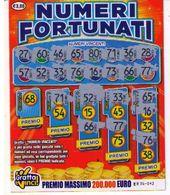 GRATTA E VINCI   - NUMERI FORTUNATI DA 3 €  - USATO Numero Serie EE Primo Numero 68 - Biglietti Della Lotteria