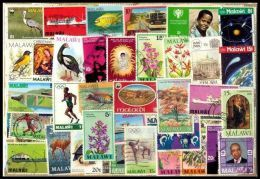 Malawi 100 Different Thematic Large & Small-Used Postage Stamps - Malawi (1964-...)