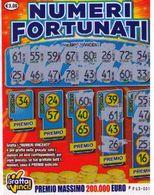 GRATTA E VINCI   - NUMERI FORTUNATI DA 3 €  - USATO Numero Serie FF Primo Numero 34 - Biglietti Della Lotteria
