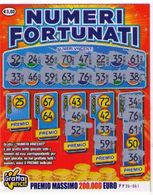 GRATTA E VINCI   - NUMERI FORTUNATI DA 3 €  - USATO Numero Serie FF Primo Numero 25 - Biglietti Della Lotteria