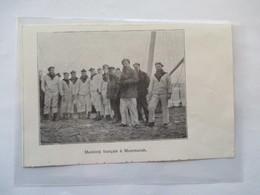 1918 - Russie Mourmansk (en Russe : Мурманск) Matelots Français  - Coupure De Presse Originale (Encart Photo) - Documents Historiques