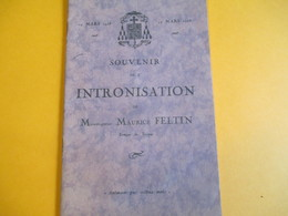 Plaquette  Souvenir/ Intronisation De Monseigneur Maurice FELTIN/ Evêque De TROYES/ 1928    PROG163 - Religion & Esotérisme