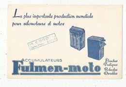 Buvard, Accumulateurs FULMEN-MOTO , Cordel , BRIEY, 54 , Frais Fr 1.45 E - Bikes & Mopeds