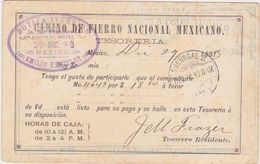 MEXICO 1893 P.ST.CARD IMPRINTED USED MEXICO D.F. - Mexique