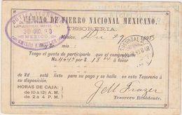 MEXICO 1893 P.ST.CARD IMPRINTED USED MEXICO D.F. - México