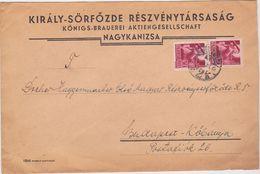 HUNGARY 1944 (26.9.) ILLUSTR.BEER BREWERY COVER NAGYKANIZSA TO BUDAPEST-KÖBANYA - Hongrie