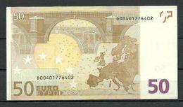 ESTONIA 50 EURO 2002 D-Serie Banknote AUNC/UNC (ATM-Fresch) RO51A3 - EURO