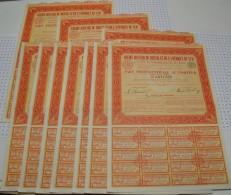 Lot De 10 Titres : Credit Foncier Du Bresil Et De L'Amerique Du Sud - Electricité & Gaz